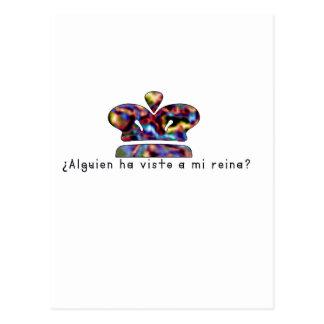 Cartão Postal Espanhol-Rainha