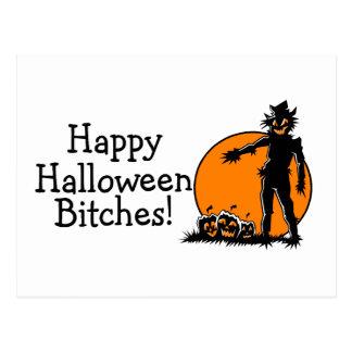 Cartão Postal Espantalho do Dia das Bruxas