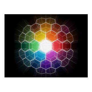 Cartão Postal Espectro do favo de mel