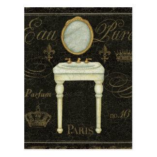 Cartão Postal Espelho e dissipador do vintage