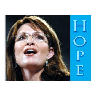 Cartão Postal Esperança de Sarah Palin