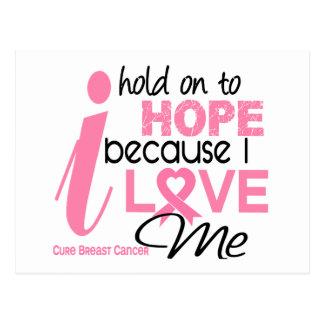 Cartão Postal Esperança do cancro da mama para MIM