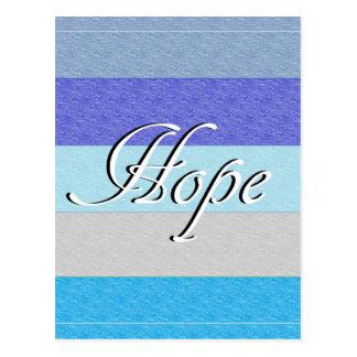 Cartão Postal ESPERANÇA no azul