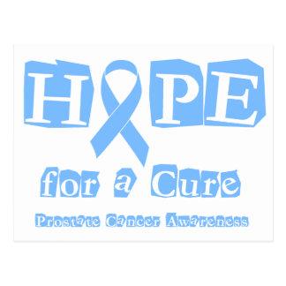 Cartão Postal Esperança para uma cura - cancro da próstata