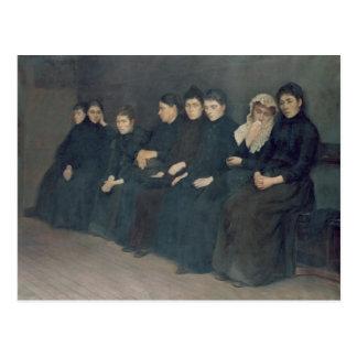 Cartão Postal Esperando na clínica, 1888