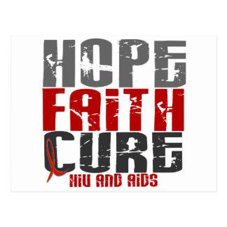 Cartão Postal ESPERE o HIV da CURA de FÉ/os t-shirt & roupa do
