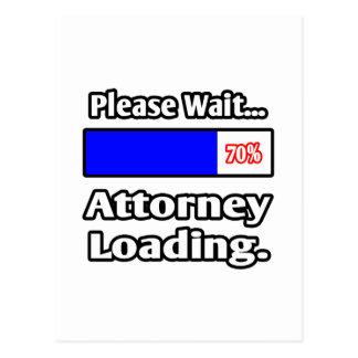 Cartão Postal Espere por favor… a carga do advogado