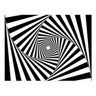 Cartão Postal ~ ESPIRAL do TÚNEL (um design preto & branco)