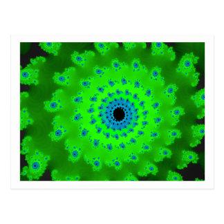 Cartão Postal Espiral verde
