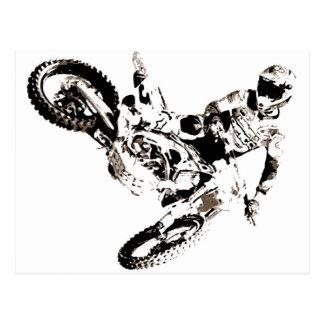 Cartão Postal Esporte de Motorcyle do motocross do pop art