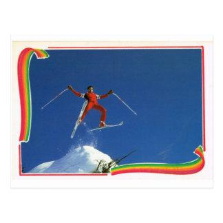 Cartão Postal Esportes de inverno de France do vintage da