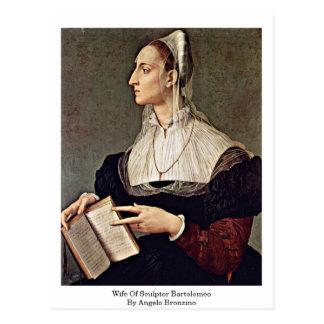 Cartão Postal Esposa do escultor Bartolomeo por Angelo Bronzino
