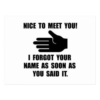 Cartão Postal Esqueceu seu nome