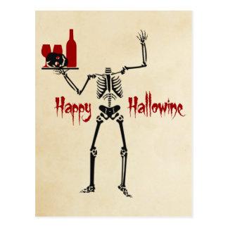 Cartão Postal Esqueleto decapitado feliz de Hallowine