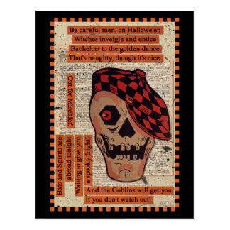 Cartão Postal Esqueleto desportivo