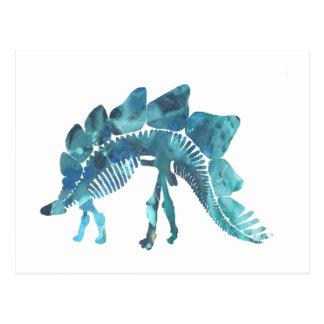 Cartão Postal Esqueleto do Stegosaurus