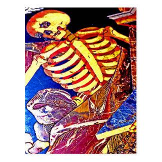 Cartão Postal Esqueleto na sepultura do assoalho, Malta