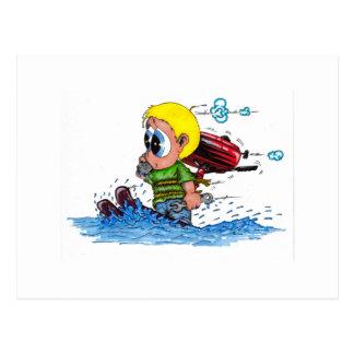 Cartão Postal esqui aquático