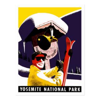 Cartão Postal Esqui em Yosemite