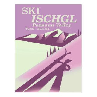 Cartão Postal Esqui Ischgl, vale Tirol de Paznaun
