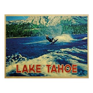 Cartão Postal Esquiador da água de Lake Tahoe