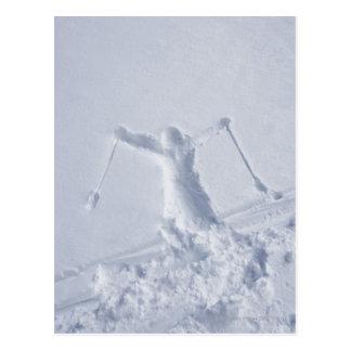 Cartão Postal Esquiadores 2