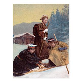 Cartão Postal Esquiadores noruegueses