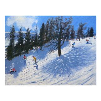 Cartão Postal Esquiadores Verbier 2010 do primavera
