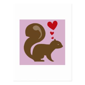 Cartão Postal Esquilo dos namorados
