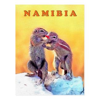 Cartão Postal Esquilos da areia, Namíbia