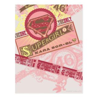 Cartão Postal Esse o único Supergirl