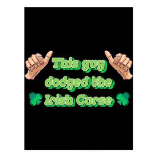 Cartão Postal Esta cara evitou a praga irlandesa