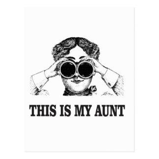 Cartão Postal esta é minha tia yeah