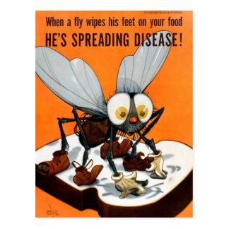Cartão Postal Está espalhando o poster da saúde pública do