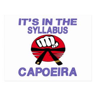 Cartão Postal Está no plano de estudos Capoeira.