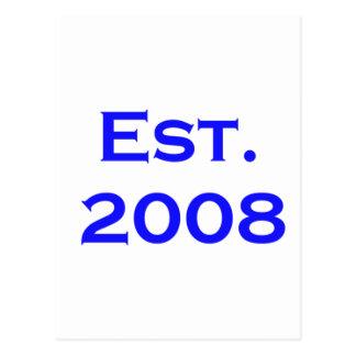 Cartão Postal estabelecido 2008