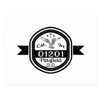 Cartão Postal Estabelecido em 01201 Pittsfield