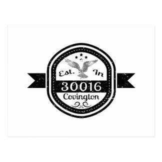 Cartão Postal Estabelecido em 30016 Covington