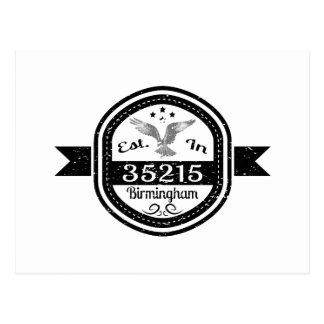 Cartão Postal Estabelecido em 35215 Birmingham