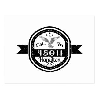 Cartão Postal Estabelecido em 45011 Hamilton
