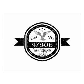 Cartão Postal Estabelecido em 47906 Lafayette ocidental