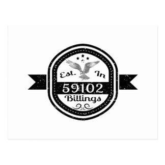 Cartão Postal Estabelecido em 59102 faturamentos