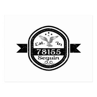 Cartão Postal Estabelecido em 78155 Seguin