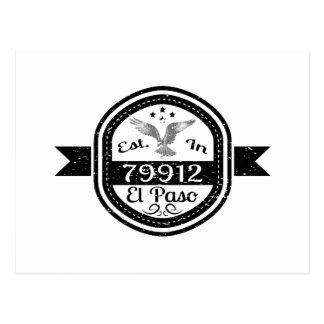 Cartão Postal Estabelecido em 79912 El Paso
