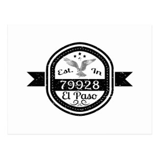 Cartão Postal Estabelecido em 79928 El Paso