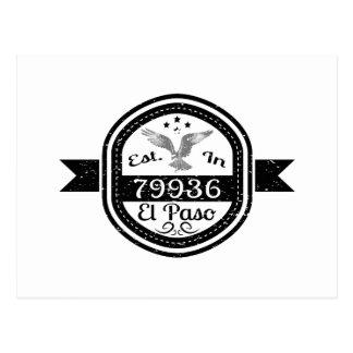 Cartão Postal Estabelecido em 79936 El Paso