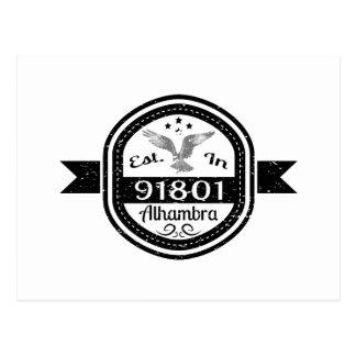 Cartão Postal Estabelecido em 91801 Alhambra