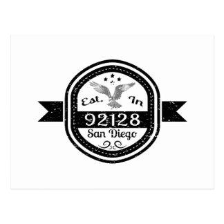 Cartão Postal Estabelecido em 92128 San Diego