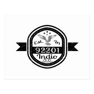 Cartão Postal Estabelecido em 92201 Indio