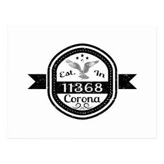 Cartão Postal Estabelecido na corona 11368